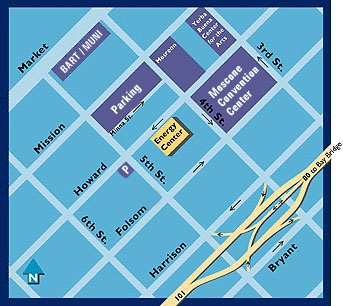 Pacific Energy Center Vicinity Map