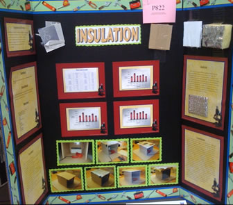 Photograph of the Insulation Science Fair project