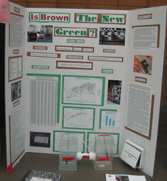 Photograph of the Is Brown the new Green  Science Fair project