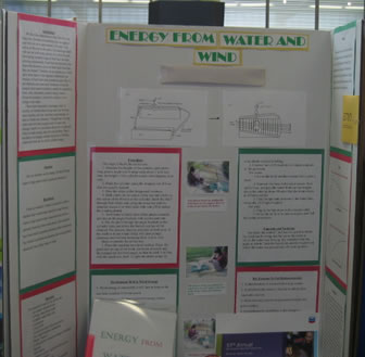 Photograph of the Energy from Water and Wind Science Fair Project