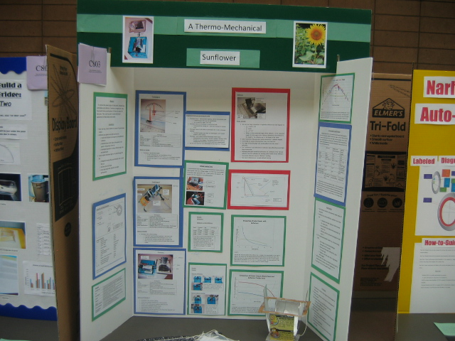 Photo of the Thermo-Mechanical Sunflower Science Fair project