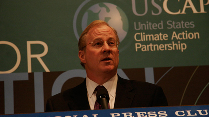 Peter Darbee at the launch of the U.S. Climate Action Partnership at the National Press Club in Washington, D.C.