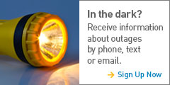 In the Dark? Receive Outage Alerts