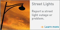 Report a street light outage or problem