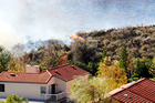 Brush Fire Near Homes Photograph