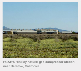 PG&E's Hinkley natural gas compressor station near Barstow, California