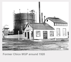 Former Chico manufactured gas plant around 1920