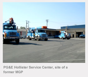 PG&E Hollister Service Center, site of a former manufactured gas plant