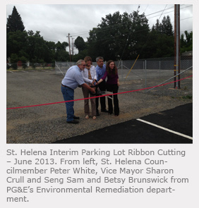 Parking Lot Ribbon Cutting