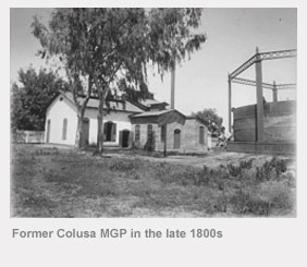 Former Colusa manufactured gas plant in the late 1800s