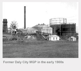 Former Daly City manufactured gas plant in the early 1900s