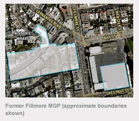 Former Fillmore MGP (approximate boundaries shown)