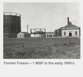 Former Fresno manufactured gas plant in the early 1900s