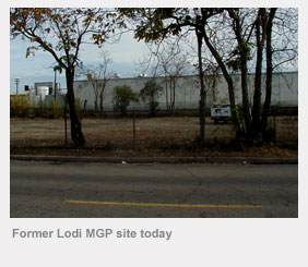Former Lodi manufactured gas plant site today