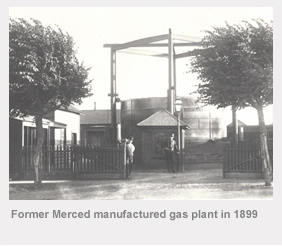 Former Merced manufactured gas plant in 1899