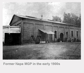 Former Napa manufactured gas plant in the early 1900s