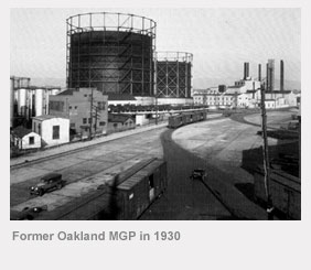 Former Oakland manufactured gas plant in 1930