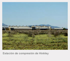 Estación de compresión de gas natural de PG&E de Hinkley, cerca de Barstow, California