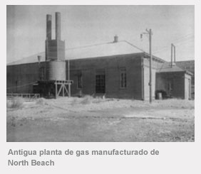 Antigua planta de gas manufacturado de North Beach