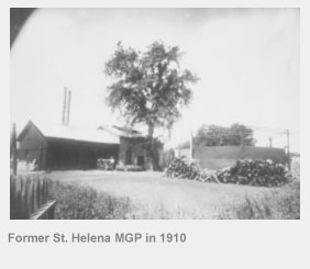 Former St. Helena manufactured gas plant in 1910