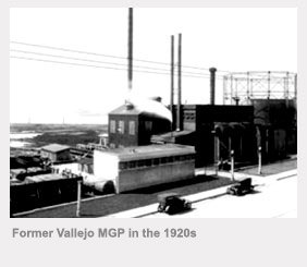 Former Vallejo manufactured gas plant in the 1920s