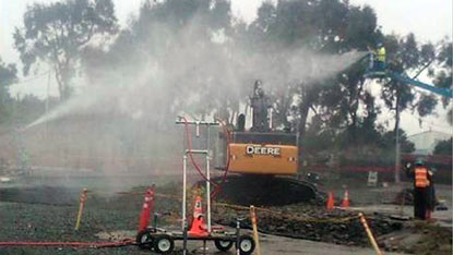 A specially-designed dust control system to-minimize-dust at the site