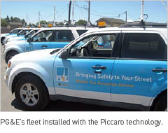 PG&E's fleet installed with the Piccaro technology