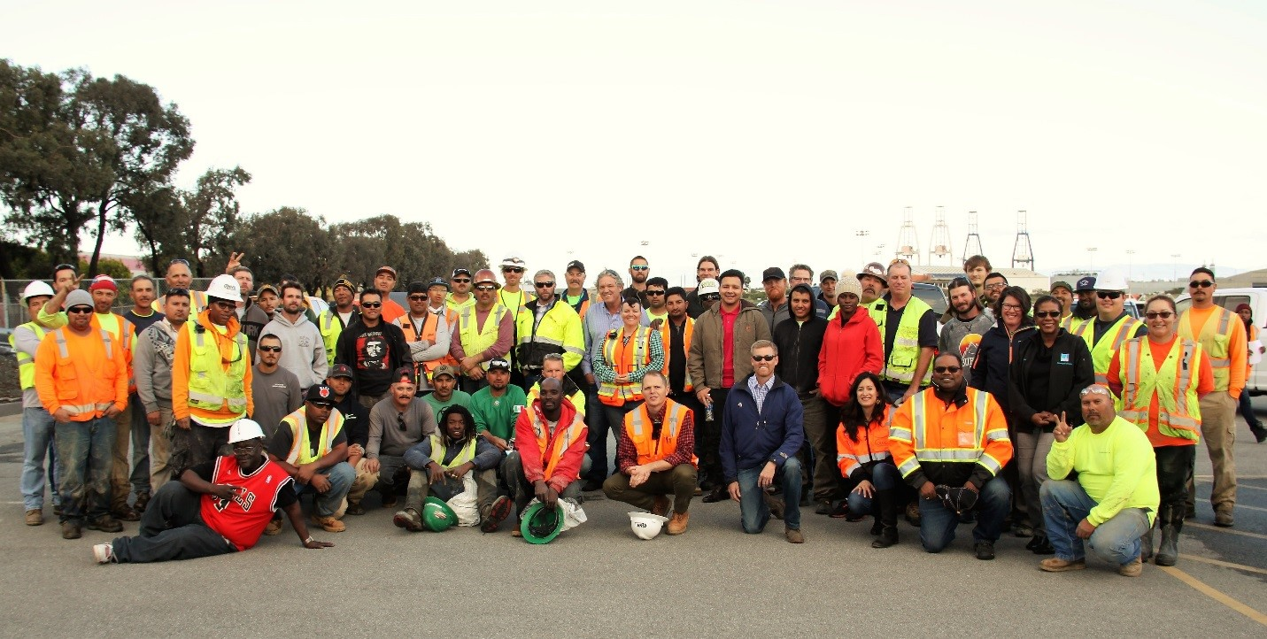 The Hunters Point Power Plant project's goal was to get a minimum of 30 percent of its labor from the local community. The goal was met or exceeded every year since the project became active, with local labor typically reaching around 40 percent.