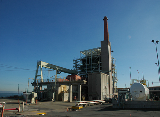 Image shows power plant