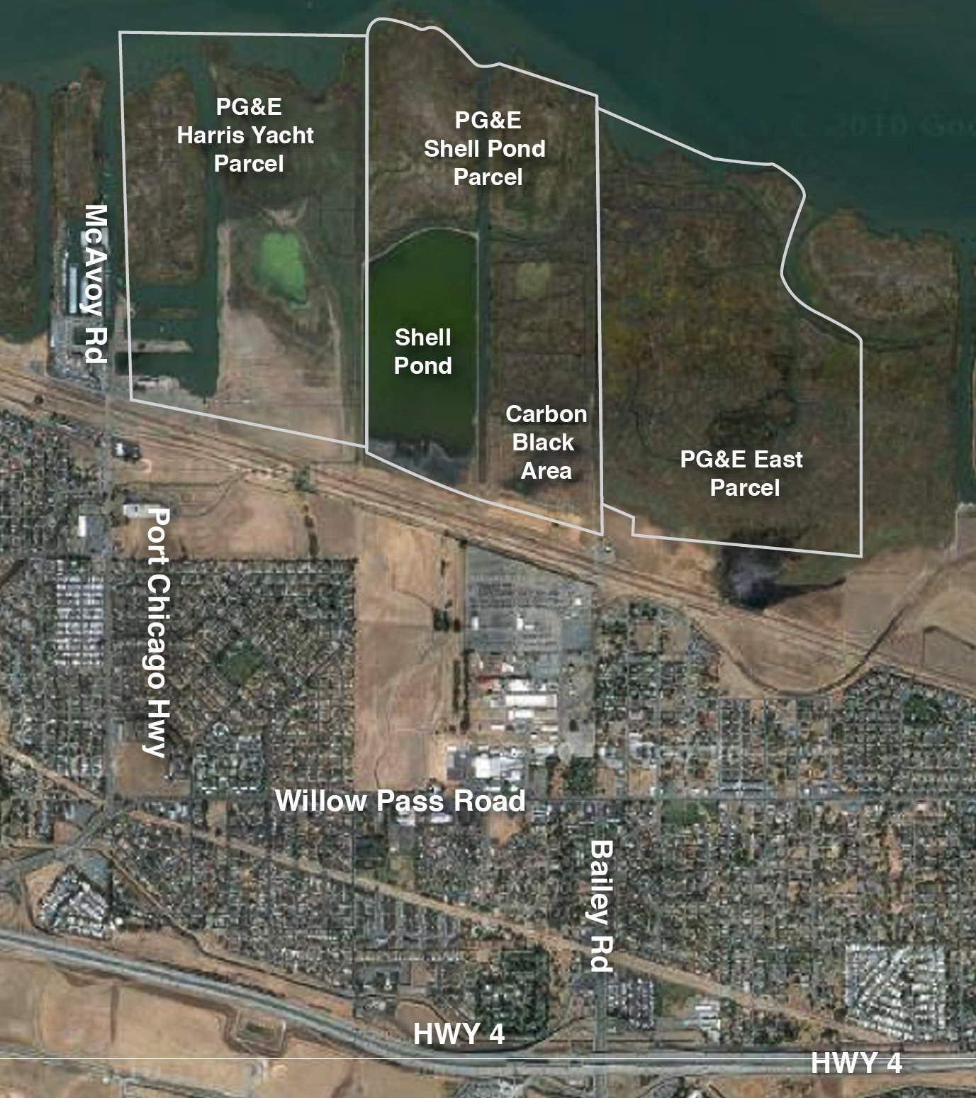 Shell-Pond site map
