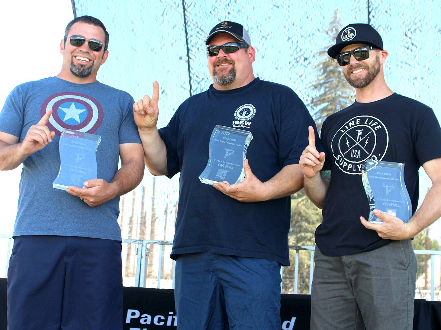 1st Place - The Has Beens, 2nd Place - MID, 3rd PG&E 1