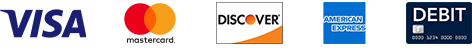 Discover, Mastercard,Visa, and Debit cards