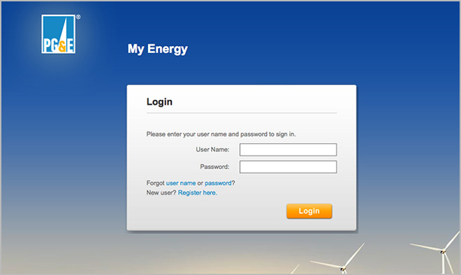 Login to My Energy