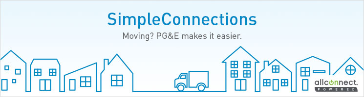 Simpleconnections. Moving? PG&E makes it easier.