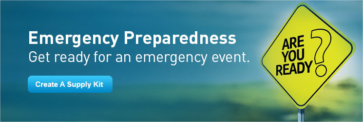 Get ready for an emergency event.