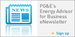PGE Energy Advisor for Business eNewsletter